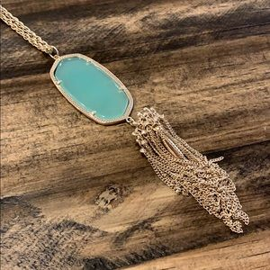 Kendra Scott Gold & Turquoise Necklace
